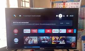 Smart Tv tcl 32inch only one horizintal line display no crack