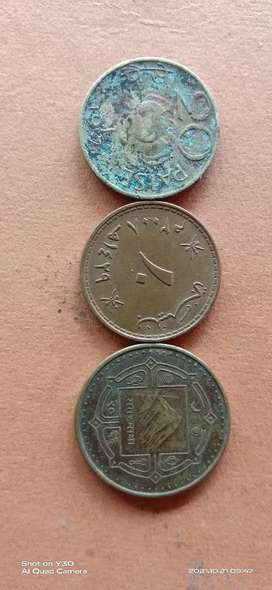 Three old coin