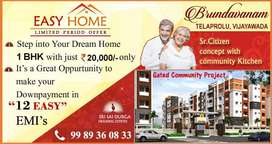 Retirement Homes,with COMMUNITY kITCHEN,1BK FLATS @11 L in Gannavaram.