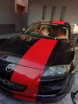 Mazda rx8 with rotary engine.