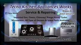 Kitchen Appliances Repairing Master ovens, Hob/gas stoves and chimney