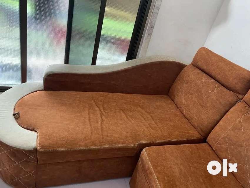 L type sofa cum bed tent color