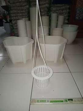 Pot anggrek plastik putih Taman Davis jl merpati 5/207 Depok Jaya KONI