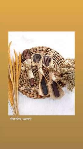 Sendok garpu kayu rustic