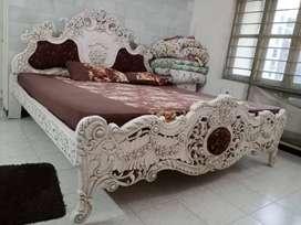 Rajwadi bed and side table