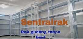 Rak gudang gondola baja pabrik supermarket minimarket praktis