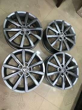 16 inches gt tsi Polo OEM gun metal grey colour brand new alloys