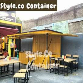 BOOTH CONTAINER CUSTOM| CONTAINER FRENCHISE SEMI CAFE| CONTAINER BOOTH