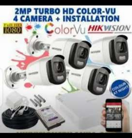 Cctv camera complete solution 2 Mp camera available with warranty