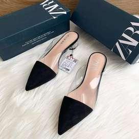 Zara Vinyl Heeled Mules