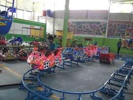 BT jual wahana odong odong kereta mini coaster rel naik turun