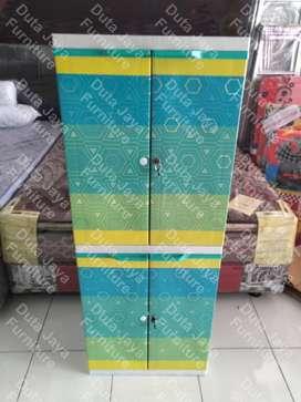Lemari Plastik Naiba Mini Rainbow 55x42x146cm