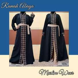 Abaya hitam renda