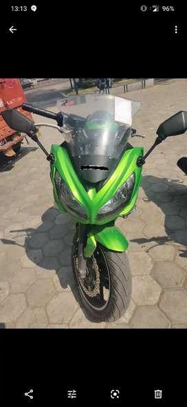 Kawasaki ninja650r green color