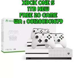 Xbox one s 1tb 2 stik free 20 game