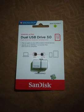 OTG Flashdisk by Sandisk 32 GB 3.0 Original