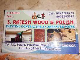 Wood poilesh and carpenter and painting work