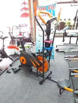 Sepeda fitnes orbitrack plat bisa antar