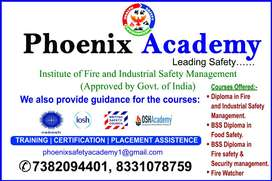 Job oriented, govt. Approved industrial safety diploma with placement.