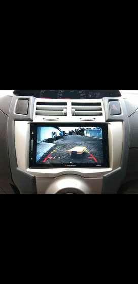 2din tv plus kamera atret + fream yaris (udin audio)