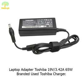 Laptop Adapter Toshiba 19V/3.42A 65W Branded Used Toshiba Charger.
