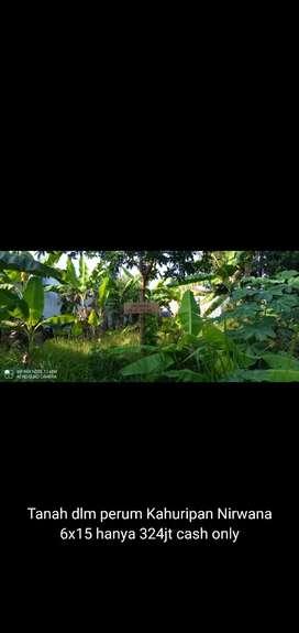 Tanah siap bangun dalam perumahan Kahuripan Nirwana