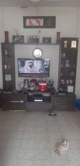 TV cum storage unit