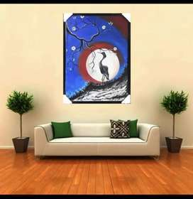 Birds painting for sale size 25×18