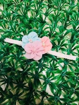 Headband baby trio flowers color
