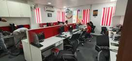 2 cabin+12sitting+common reception office for rent in noida near metro
