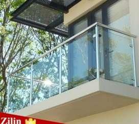Dimas stel @6019 balkon stainlis kaca