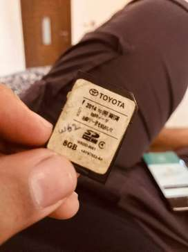 Toyota W62 Map Navigation Card