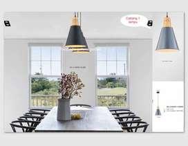 Lampu gantung minimalis dekorasi meja makan 6464-1