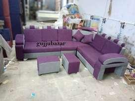Corner sofa with pillows model 823