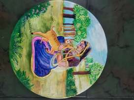 Teaches Drawing and Tanjore Painting