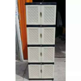 Gratis ongkir bjm - Lemari plastik 8 pintu / 4 rak dalam full kunci