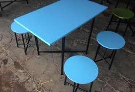 Meja kedai kopi meja angkringan meja cafe meja makan meja lipat dagang