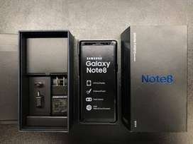 Samsung note 8 all accessories available 128 gb rom