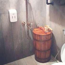 Bak mandi tradisional dari Kayu Jati Classic TERLARIS