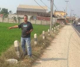Tanah dijual murah cikampek , lokasi di pinggir jalan raya nasional