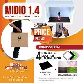HS Mini Photo Studio Light Box Midio + Plus Background 3D