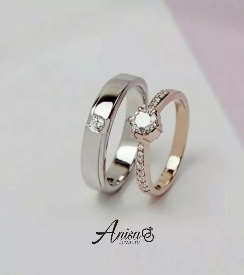 Jual cincin custom bahan emas putih 3 gram 0