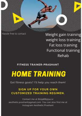 Personal trainer ( home training) 10000 14 session.