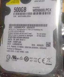 500GB laptop hard disk