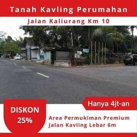 Tanah Cluster Jalan Kaliurang Km 10 Cocok Untuk Invest. Gratis Vario