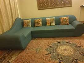 L Shape sectional sofa set 5.5 seater