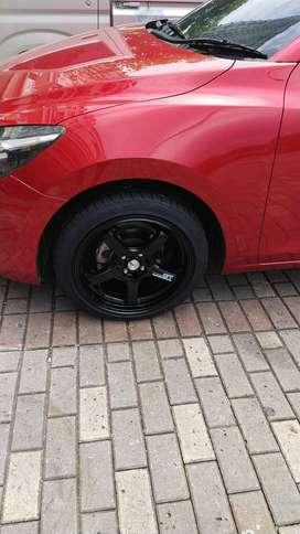 """Jual Velg Racing Mobil Mazda 2 Advan RGD Black 15"""" (Gratis Ban)"""