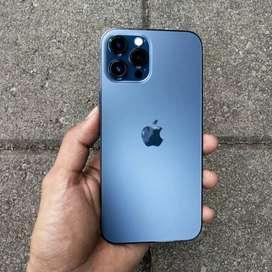 Iphone 12 Pro Max 256Gb Pasific Blue Fullset Istimewa No Minus Muluss