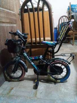 bicycle and scooty