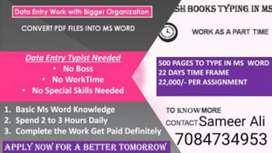 Home based typing job pdf to Ms word (100 %genuine)
